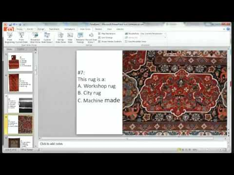 April 21 Rug ID and Appraisal Sciences with Barry O'Connell (Exam part 1)