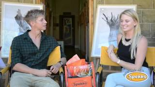 STERRE - Leah gesels met Willem Botha by die KKNK 2016
