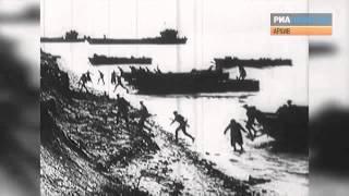 Высадка союзных войск в Нормандии 6 июня 1944 года. Архивные кадры