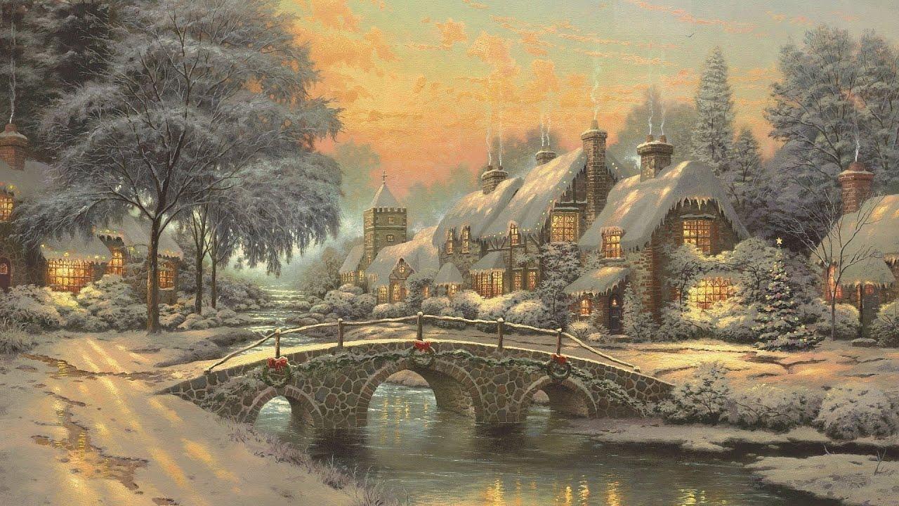 Cobblestone Christmas by Thomas Kinkade - YouTube