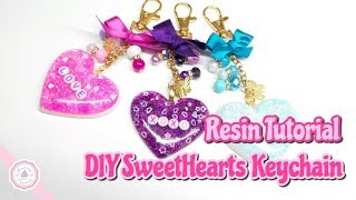 Resin Heart Tutorial : DIY Resin Accesories : Handmade Keychain : Andisa Charms