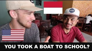 AMERICAN talks to INDONESIAN about cultural differences!