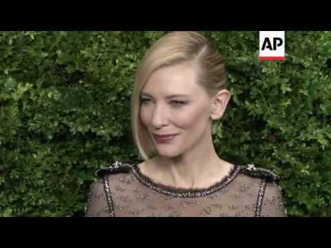 Cate Blanchett arriving at The Museum of Modern Art Film Benefit tribute to Cate Blanchett