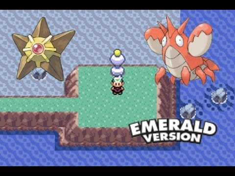 How to find staryu and corphish in pokemon emerald