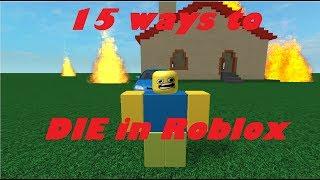 15 maneiras de morrer em Roblox