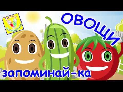 Стихи про овощи для детей! Запоминай-ка!