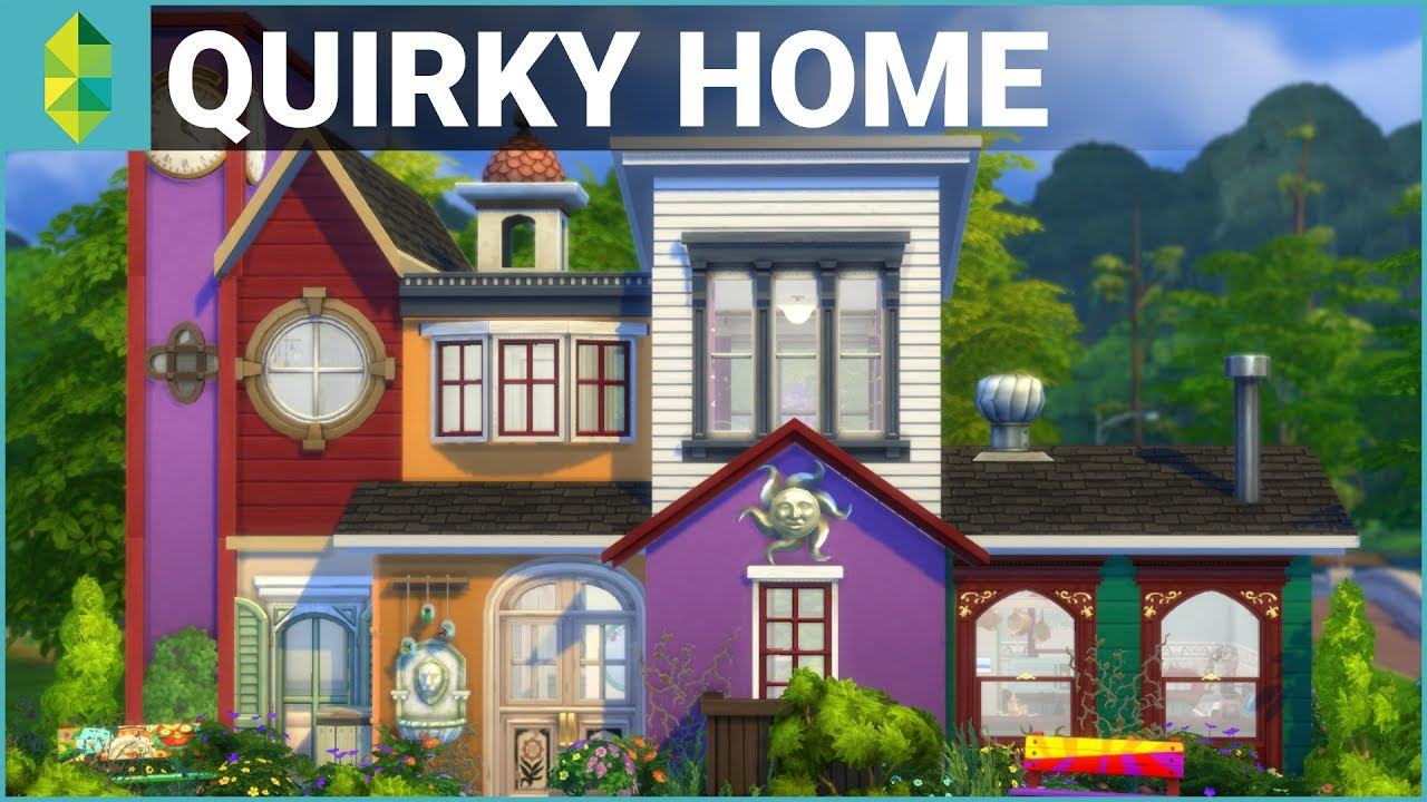 The sims 4 house building quirky home parenthood youtube for Quirky home