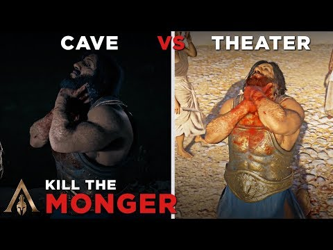 Kill The Monger to the Cave vs Theater - Assassin's Creed Odyssey