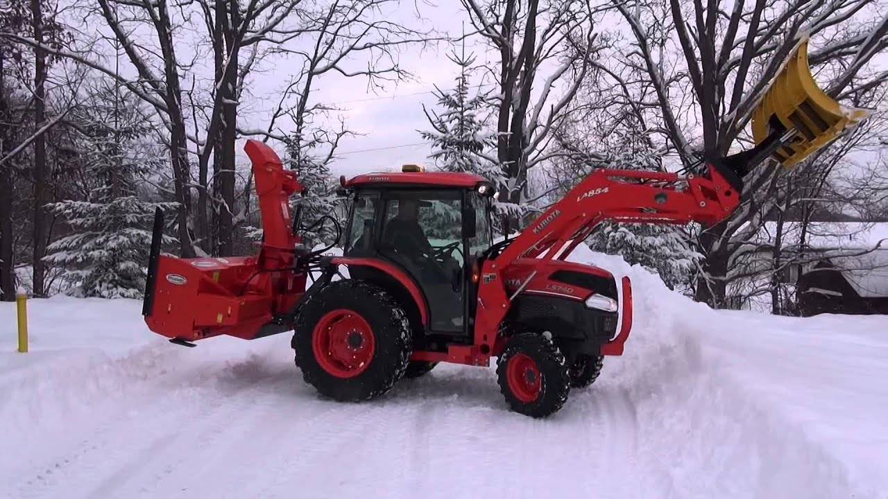 Charles Operating A Kubota L5740 Serious Snow Removal