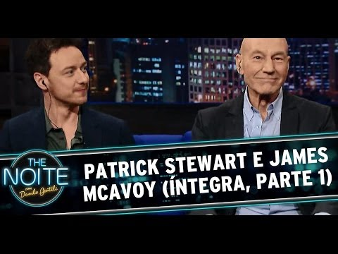 The Noite 21/05/14 - Patrick Stewart e James McAvoy (parte 1)