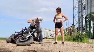 My Girlfriend WRECKED MY MOTORCYCLE!