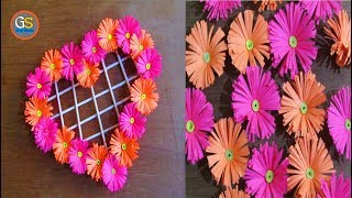 Beautiful Paper Heart Wall Hanging Crafts,Diy Paper Wall Hanging Craft, Easy Craft