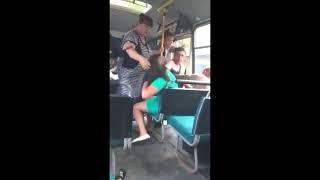 Оренбургская пуховая пьяная драка в рейсовом автобусе