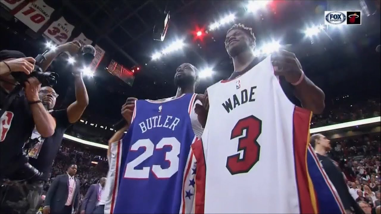 newest collection f5a9c 4314a April 09, 2019 - FSS - Dwyane Wade & Jimmy Butler Jersey Exchange (Vs 76ers)