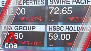 Fresh protests in Hong Kong send stocks plunging