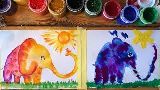 СЛОНЁНОК. Рисование для малышей. Рисуем с Илюшей. Легко!