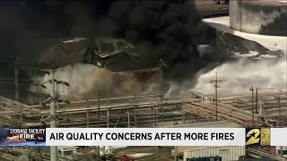 Air quality concerns after more fires