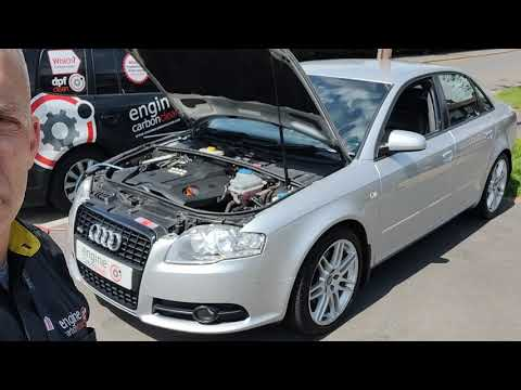 Diagnostic consultation and Engine Carbon Clean on an Audi A4 2.0 TDI (2008 - 169,012 miles)