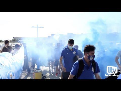 VÍDEO: Así ha recibido la afición al Ciudad de Lucena antes de enfrentarse al Xerez CD