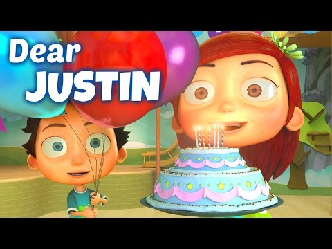 Happy Birthday Song to Justin
