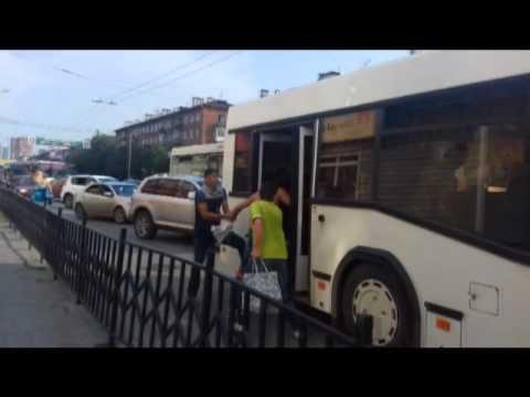 Драка в автобусе. Пермь