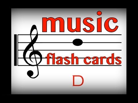 Music Flash Cards: Notes D & F