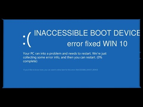 How to fix Windows 10 INACCESSIBLE BOOT DEVICE ...
