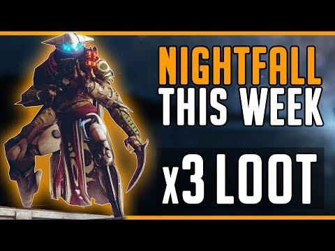 Destiny 2 Nightfall This week! (Exodus Crash Nightfall) x3 Loot