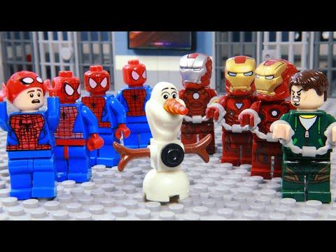 LEGO Spider Man & Iron Man Save Olaf