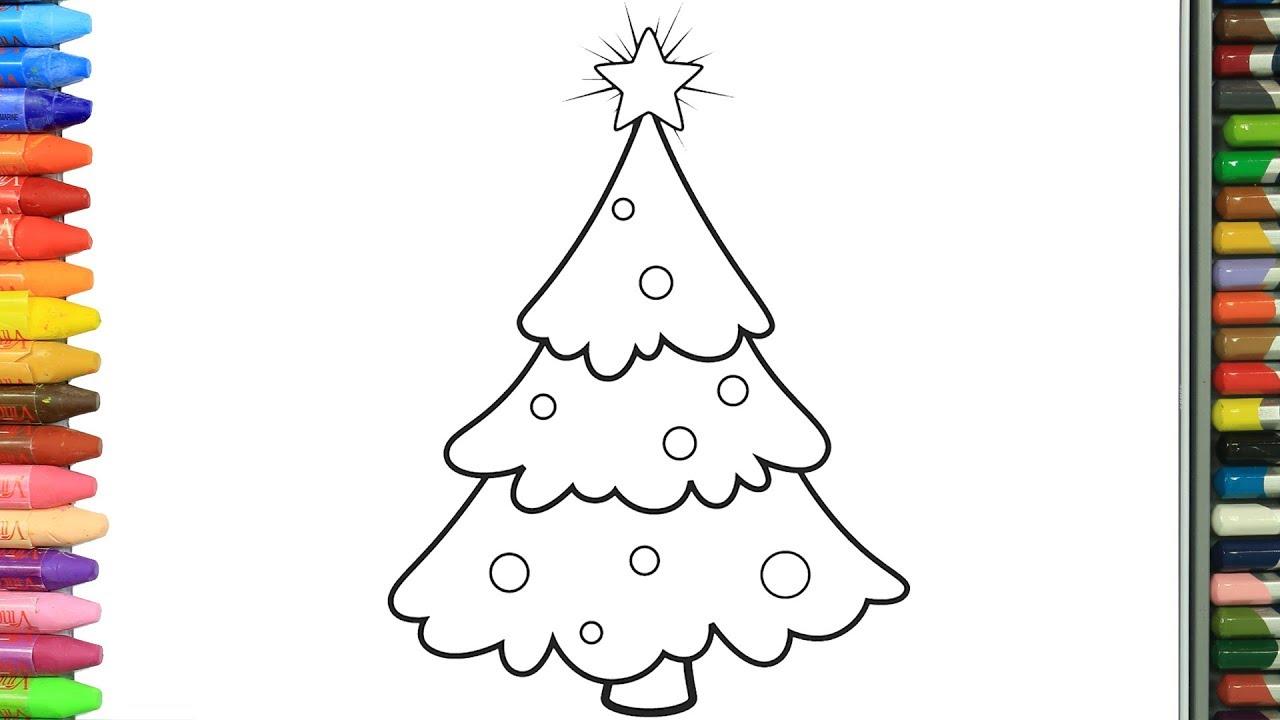 Cara Menggambar Pohon Natal Cara Menggambar Dan Mewarnai TV Anak