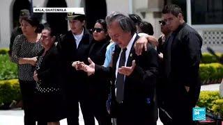 Guatemala: entre lágrimas y honores fueron recibidos los cuerpos de tres militares asesinados