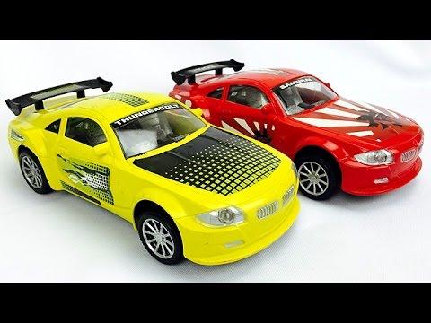 Carros De Juguetes Para Ninos Carrito Amarillo Y Rojo Youtube