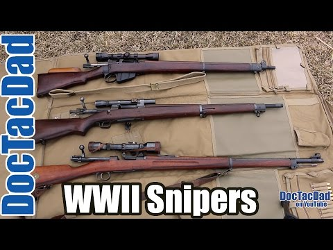 WWII Snipers Rifles - Lee-Enfield, Springfield 1903a3, Swedish Sniper M1941
