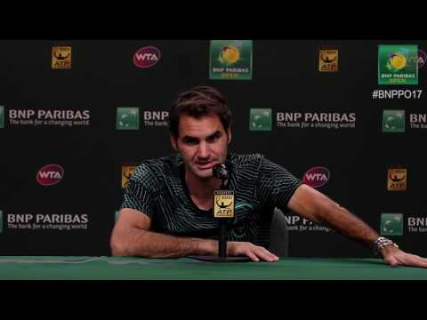 BNP Paribas Open 2017: Roger Federer 4R Press Conference