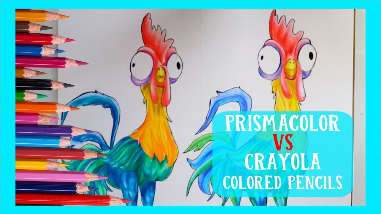PRISMACOLOR Colored Pencils VS CRAYOLA Colored Pencils