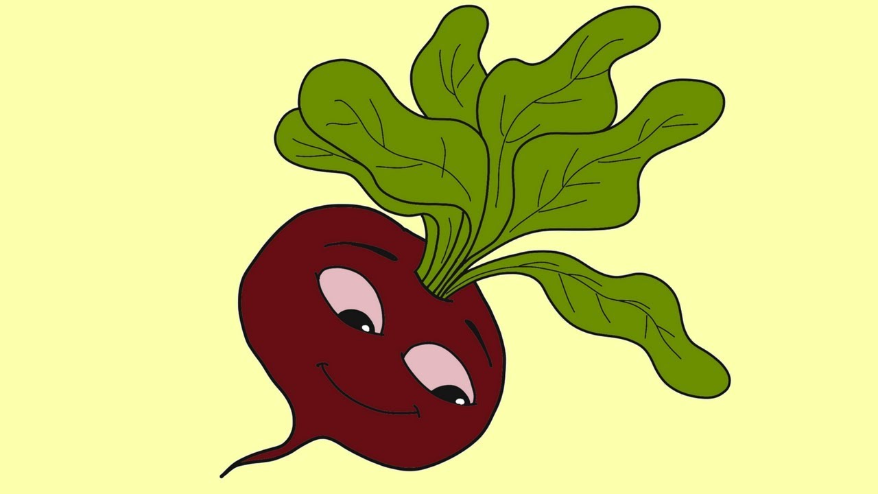 How To Draw A Beetroot For Kids Learn To Draw Beetroot Easily