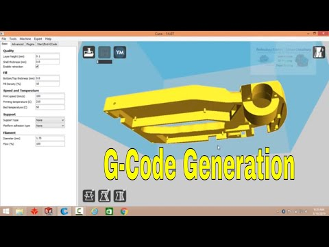 How to Prepare G-Code for 3D Printing from CAD Model using Cura