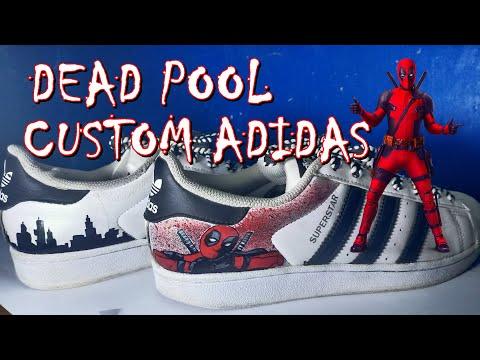 Adidas Superstar (Deadpool Custom)