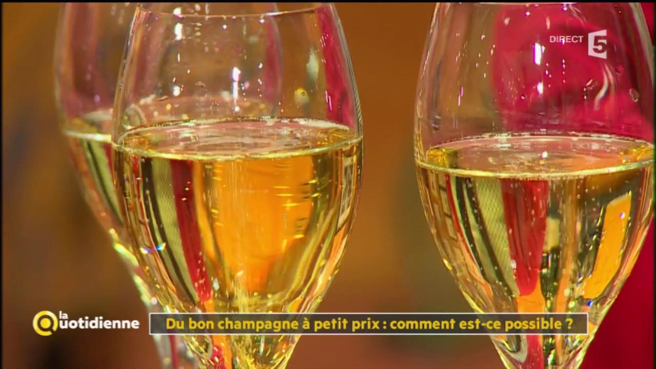 Du bon champagne à petite prix : comment est -ce possible ? - La Quotidienne - YouTube