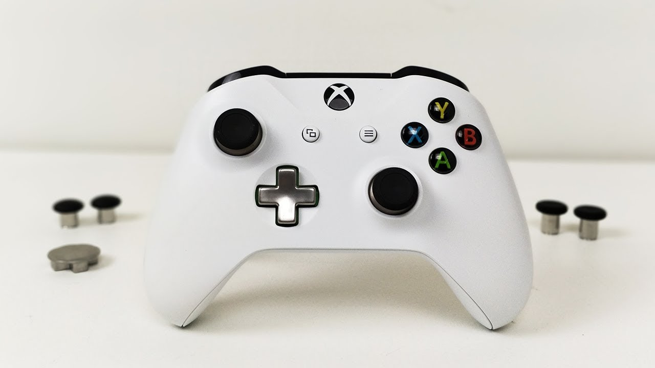 stock xbox one controller elite mod thumb sticks and d pad youtube