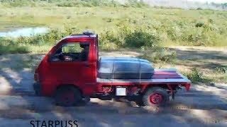 1990 hijet daihatsu hijet first test run off road.  Stock 660cc truck stock tires.  4x4
