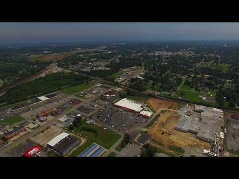 Aerial  Timelapse of Madisonville, KY during the 2017 Eclipse 4K