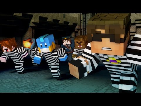 Minecraft Mini-Game: TEAM CRAFTED COPS N ROBBERS! (MITCH'S BIRTHDAY) /w Facecam