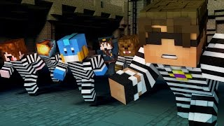 Minecraft Mini-Game: TEAM CRAFTED COPS N ROBBERS! (MITCH