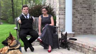 Service Dogs 'griffin' And 'troy' Accompany Owners To Haslett Prom