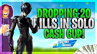 INSANE CONTROLLER PLAYER DROPS 20 KILLS IN SOLO CASH CUP!! (Fortnite - Battle Royale)
