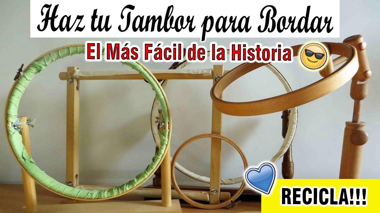 COMO HACER UN TAMBOR PARA BORDAR SIN MADERA / FÁCIL RÁPIDO - YouTube
