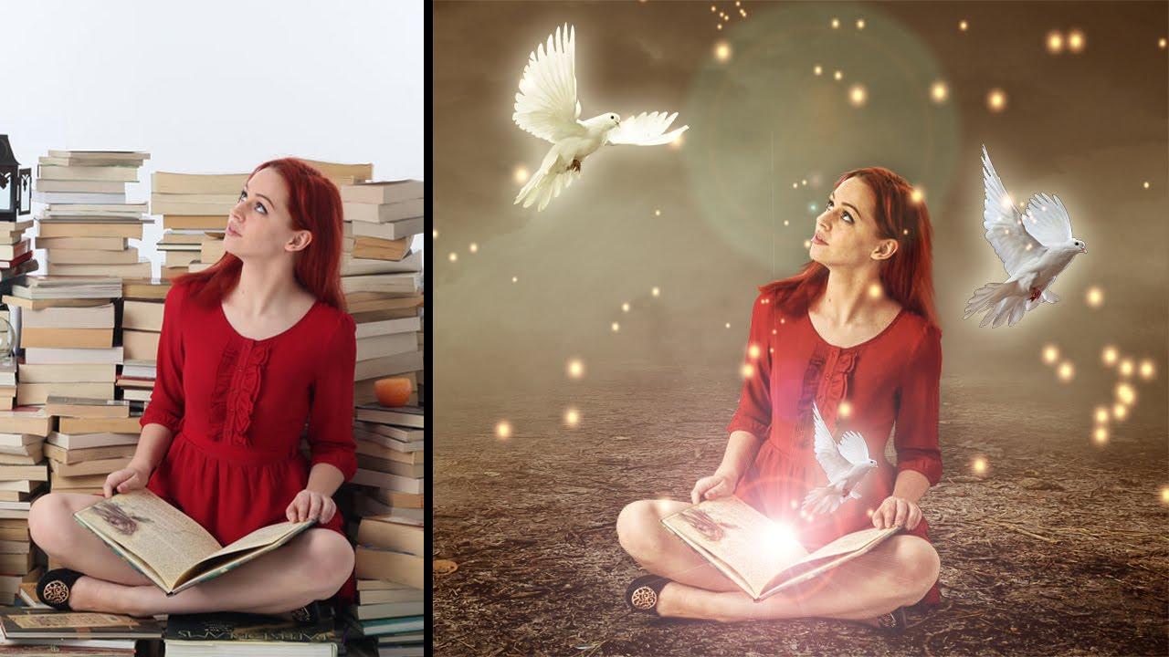 fairy book photoshop cc 2015 5 manipulation tutorial youtube