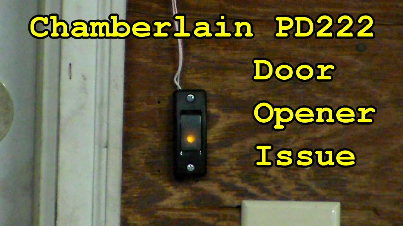 Chamberlain Garage Door Issue Youtube