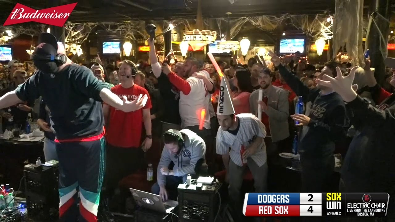 lowest price ec232 b26ed Red Sox Bar Erupts After Winning World Series Game 2 — Barstool Electric  Chair